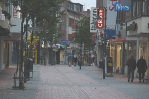 Die Neustraße in Dinslaken am Sonntag