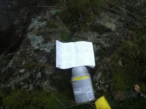 Das Gipfelbuch plus Behälter