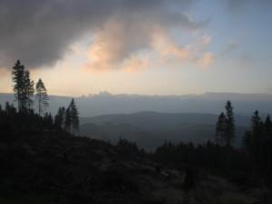 Zurück vom Gipfel: Dämmerung