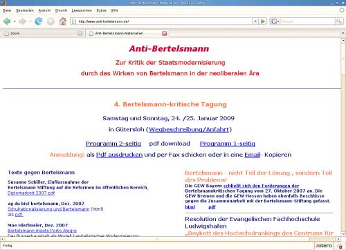 Gütersloh: Bertelsmann-Kritik