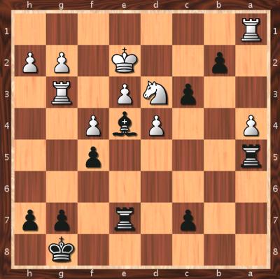 Nach 32. .. b2 hat Weiss aufgegeben