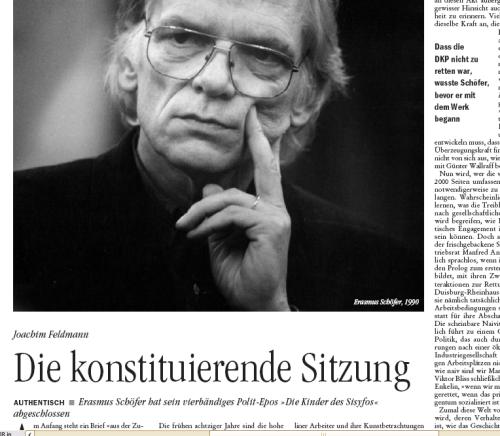 """Abschied mir Stolpersteinen: Feldmann über Schöfers """"Kinder des Sisyfos"""""""