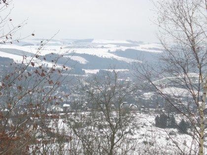 Blick vom Meisterstein auf den Ort Siedlinghausen