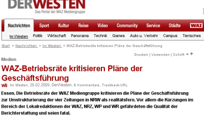 DerWesten goes Journalismus
