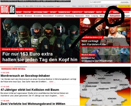 bild.de mit Regionalseiten