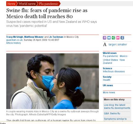 Sehr aktuell und umfassend berichtet der britische Guardian über den Ausbruch der Schweinepest.