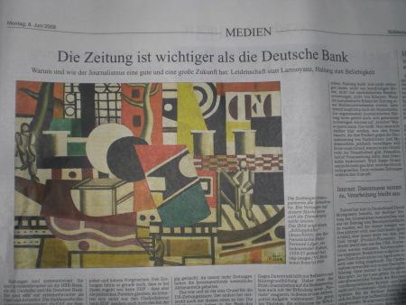 Ob Print oder Online - Lesen! Heribert Prantl: Die Zeitung ist wichtiger als die Deutsche Bank