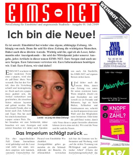 Neue Eimsbütteler Stadtteilzeitung im PDF-Format