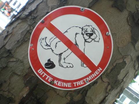 Klare Symbolik: Der Kampf gegen Hundekot in Düsseldorf