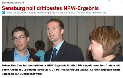 Sensburg in der Mitte, aber wer ist Carsten Rudolph?