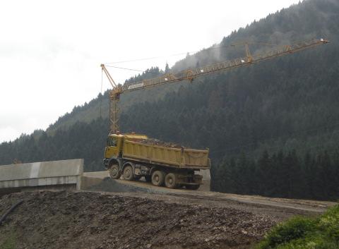 Bauarbeiten an der künftigen Umgehungsstraße Olsberg