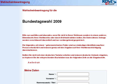 Winterberg: Briefwahlunterlagen per Internet anfordern