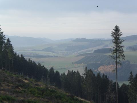 Laufend ins Tal und auf die Berge blicken