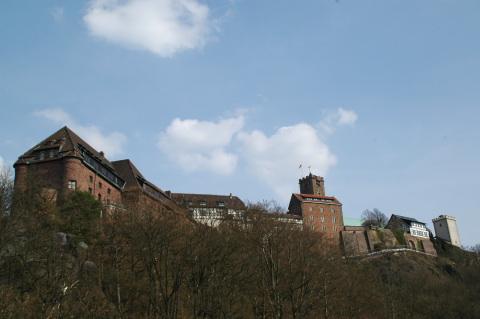 """Die Wartburg in Eisenach ... """"Und wenn die Welt voll Teufel wär` und wollt uns gar verschlingen, ..."""""""