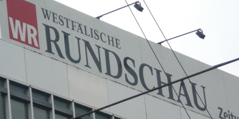 Westfälische Rundschau - Hochhauswerbung in Dortmund