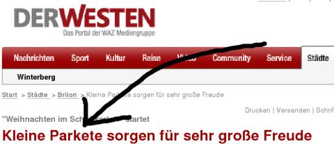 """Parkete: Nicht nur Im Siegerland wird das """"R"""" gerrrolt (screenshot wpwinterberg)"""