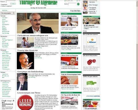 Aufmüpfige Artikel in der Thüringer Allgemeinen
