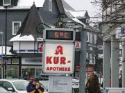5° Celsius zu Mittag: Marktplatz Winterberg