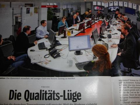 """Foto der WAZ-Zentralredaktion im """"Spiegel"""" 50/09"""