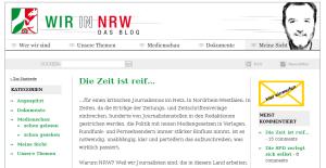 """Das Polit-Blog """"Wir in NRW"""": Die Zeit ist reif .... (screenshot)"""