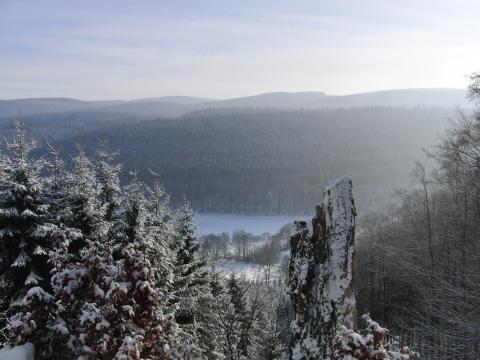 Auf dem Weg zur Hunau: Blick über das Negertal.