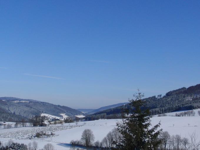 Blick nach Norden: Das Negertal Richtung Olsberg (foto: zoom)