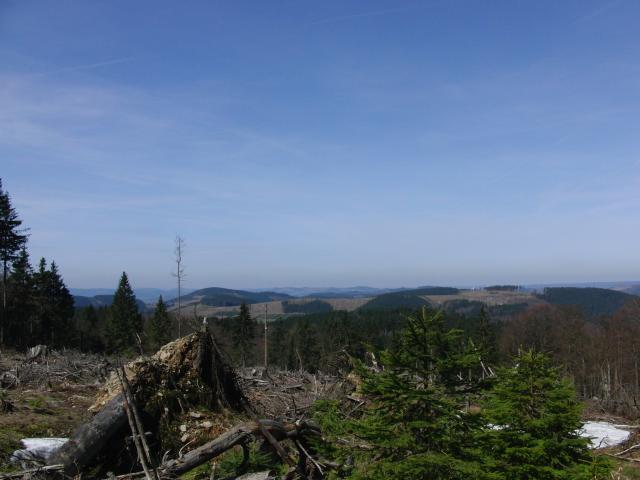 Blick von der Hunau nach Norden