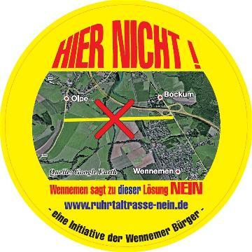 Sticker der Bürgerinitiative (quelle: BI Ruhrtaltrasse-Nein)