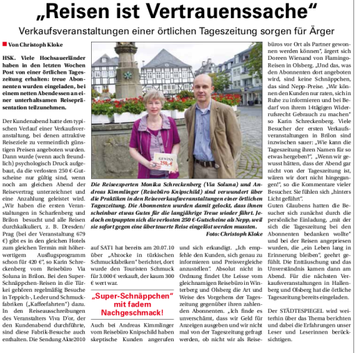 Städtespiegel Brilon 20. August 2010 (screenshot: zoom)