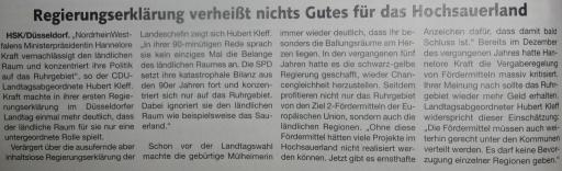 PR-Arikel des CDU-Landtagsabgeordneten Hubert Kleff im Briloner Anzeiger (foto: zoom)