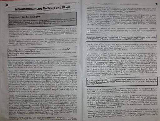 Das Mitteilungsblatt der Stadt Winterberg. Zwei von vier Seiten. (foto: zoom)