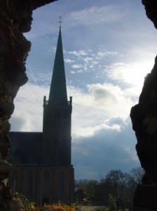Heinsberg. Blick vom Burgberg auf Kirche. (foto: zoom)
