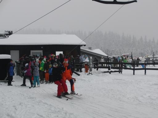 Kalt und trüb war es am Kahlen Asten: Skilift Sahnehang (foto: zoom)