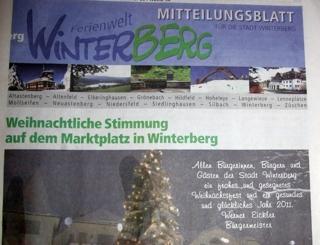 Mitteilungsblatt der Stadt Winterberg beliebter als die Westfalenpost? (foto: zoom)
