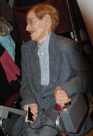 Stephen Hawking in Wachs bei Madame Tussauds. (foto: chris)