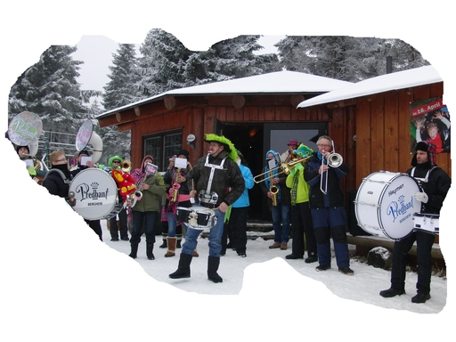 Für die niederländischen Gäste aus Berghem gilt: Blasmusik ist Spaßmusik. (foto: zoom)