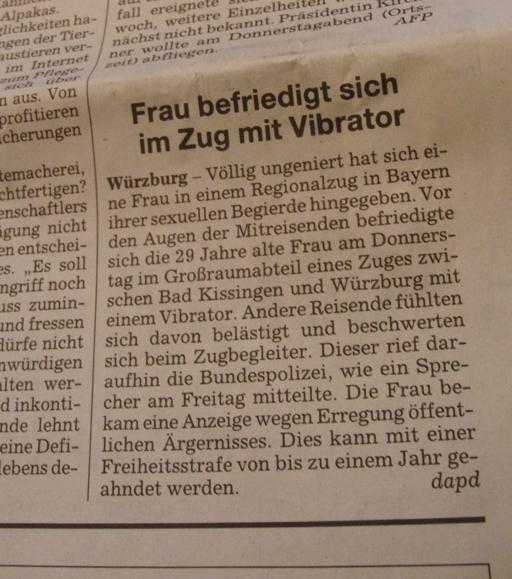 Süddeutsche Zeitung entdeckt Feuchtgebiete bei der Deutschen Bahn. SZ von heute. Panorama.