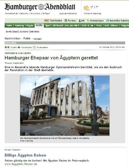 Aus der heutigen Ausgabe des Hamburger Abendblatts