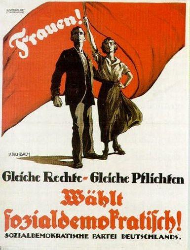 Frauenrechte vor 92 Jahren (Plakat: Hessisches Landesmuseum Darmstadt)
