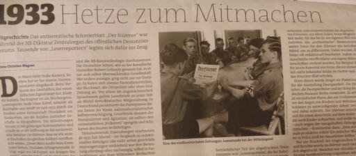 Artikel im neuen Freitag: Leserreporter für die Nazis. (foto: zoom)
