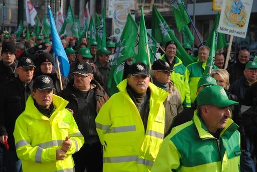 Der Polizei-Block auf der Demo.