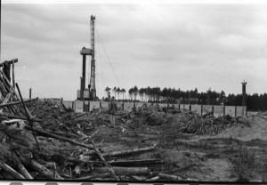 Befestigungsanlagen beim Bau von Gorleben. (foto: chris klein)