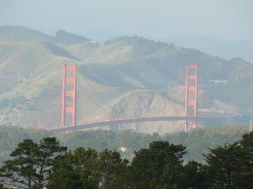 Auf dem Weg nach Merced. Die Golden Gate Bridge. (foto: weber)
