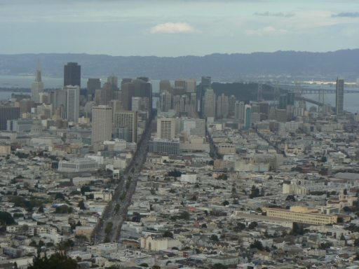 Downton San Francisco von den Twin Peaks aus