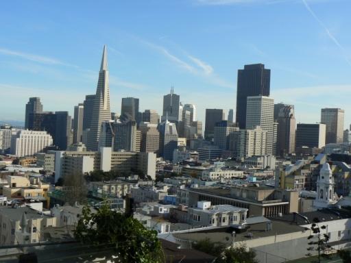 Downtown San Francisco vom Russian Hill aus