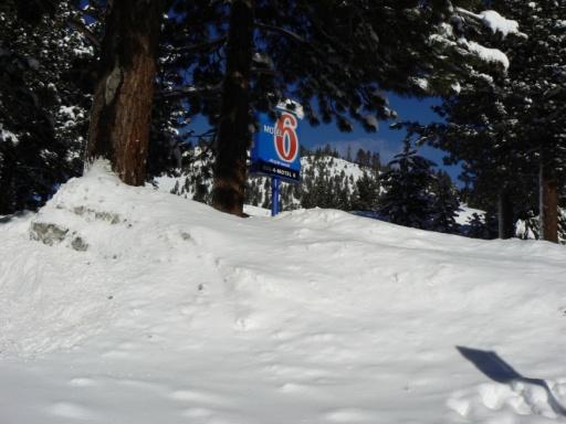 Unterwegs mit Schneeketten.