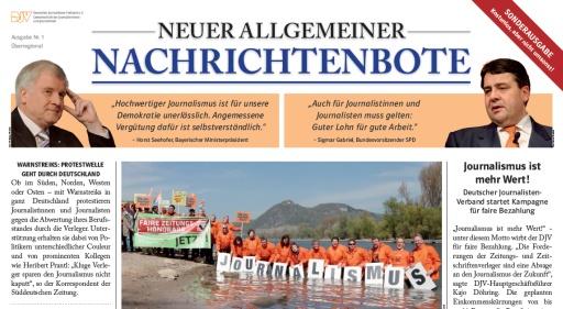 Die Streikzeitung des Deutschen Journalisten Verbandes(DJV)