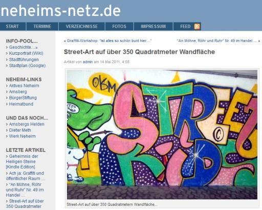 Zurück im Bloggerland an der Ruhr: Neheims-Netz (screenshot: zoom)