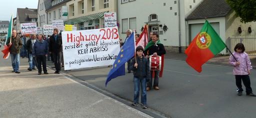 Die Demonstration am Mittwoch. (foto: wendland)