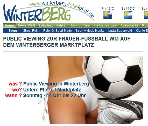 Sex sells auch in Winterberg. (screenshot: zoom)